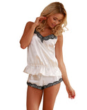 Satin Sexy Sleepwear Set - Ecru