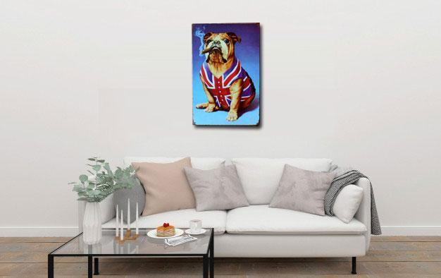Dog Metal Metal Tin Poster