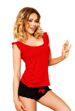 Delicate Sleepwear Set - red