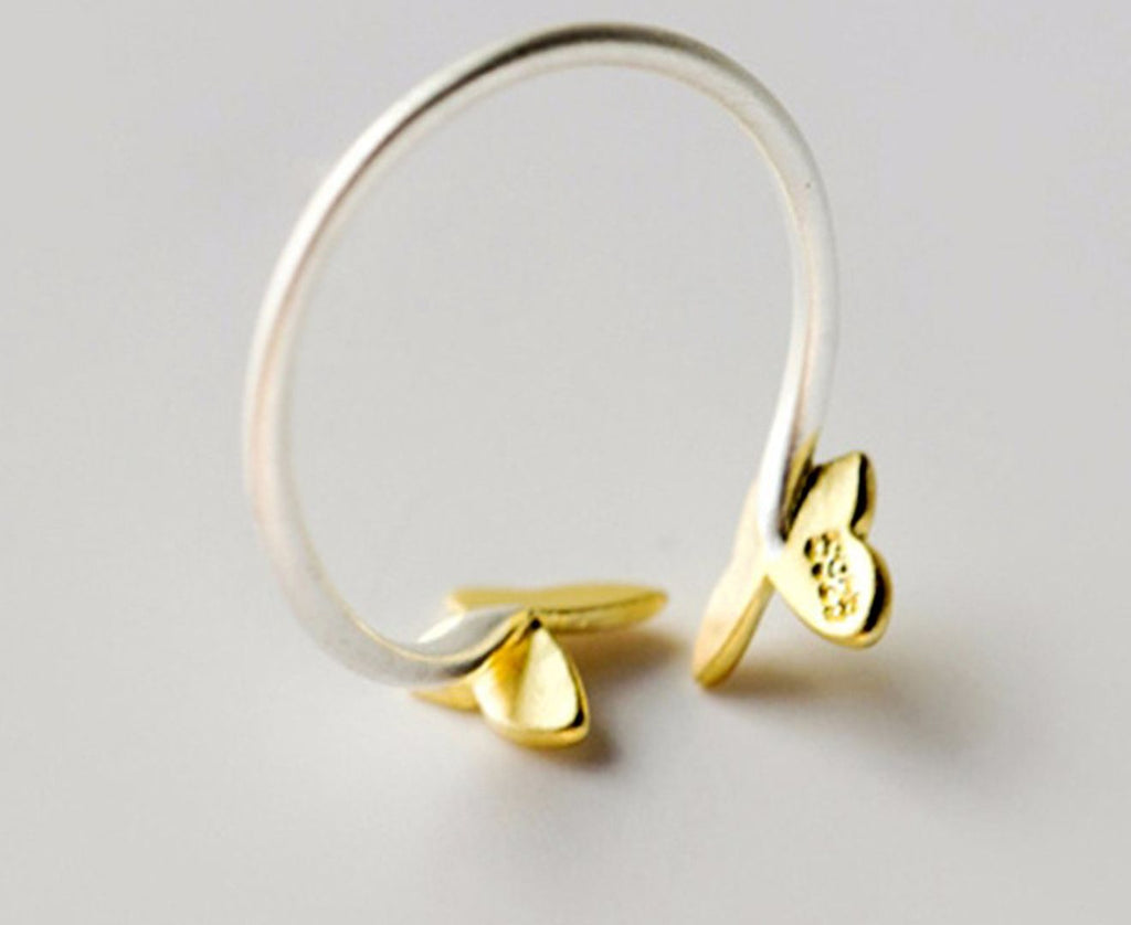 Gold Plated Summer Butterfly Toe Ring