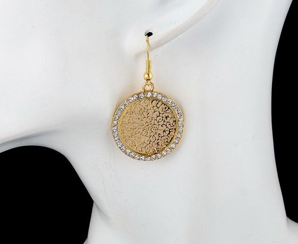 2 X Beautiful Gold- & Silver Plated Crystal Drop Earrings