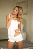 Viscose Sleepwear Set - ecru
