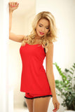 Viscose Sleepwear Set - red