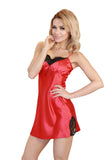 red Satin Chemise Sleepwear