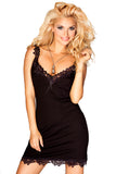 Light viscose chemise - black