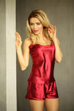 Fiji Satin luxury Sleepwear Set - claret