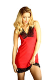 red Camisole Chemise Nightgown