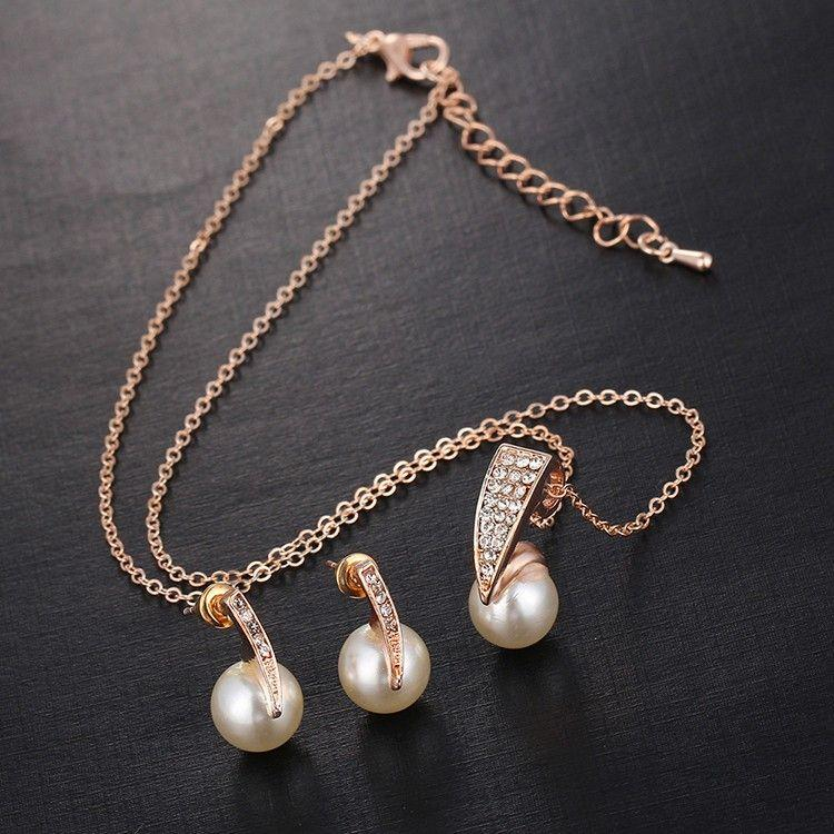 Pearl Gold Color Bridal Jewellery