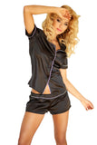 Luxury Satin Sleepwear with Short Pyjamas Set