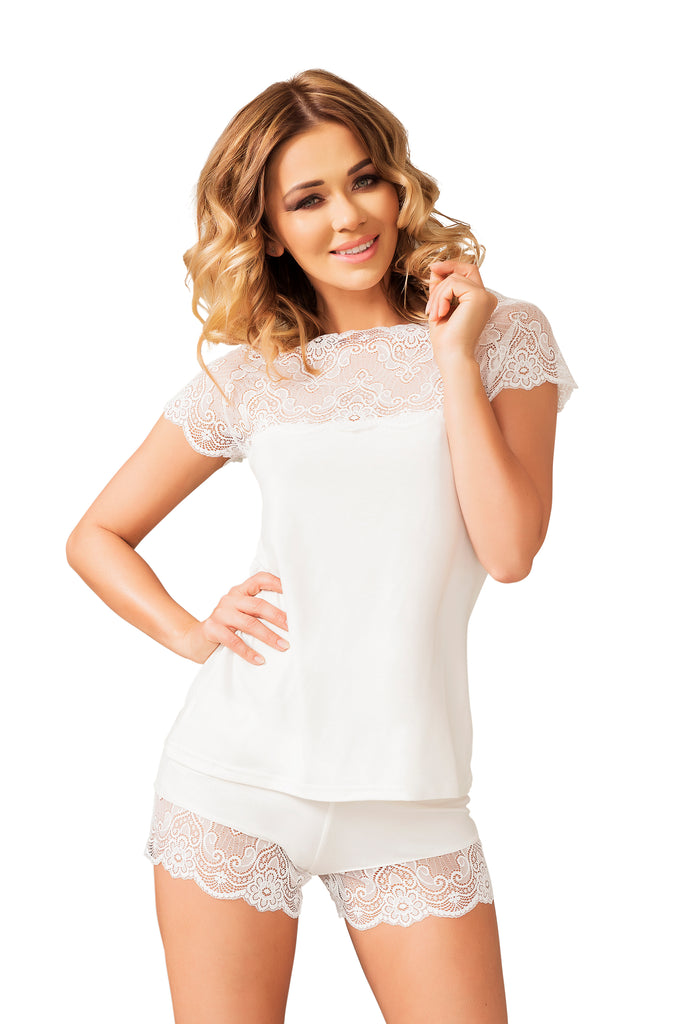 Sleek Sleepwear Set - ecru