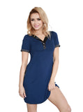 light  Camisole Chemise - Navy Blue