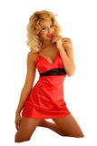 Sexy Satin Red Nightwear Chemise