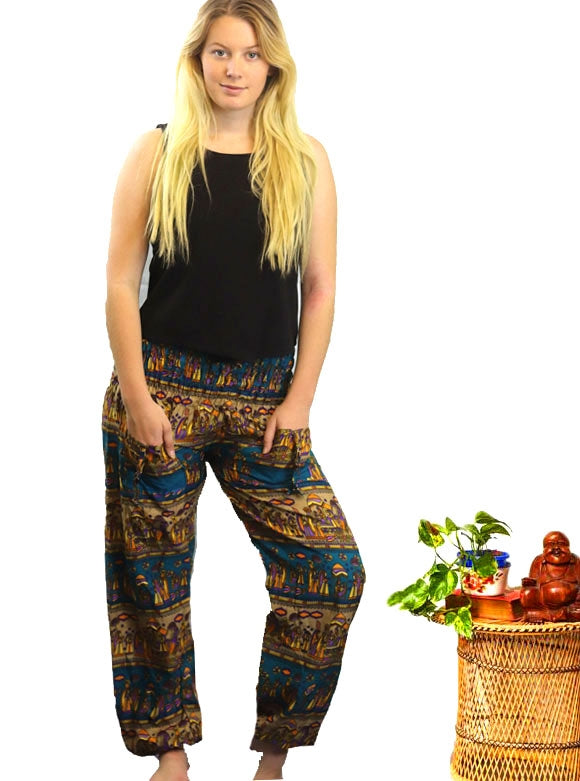 Printed Harem Pants -  Gypsy Boho Yoga Harem Pants