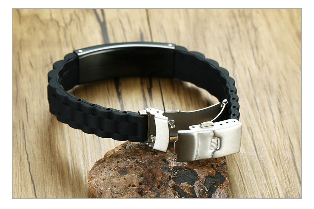 Custom Personalised Engraved  Mens Bracelet