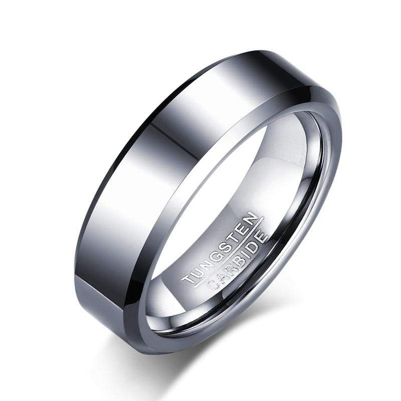 Tungsten Carbide Mens Sliver Ring.