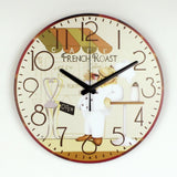 Silent French Toast Kitchen Wall Clock