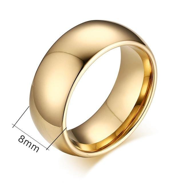 Gold Plated  Tungsten Wedding Rings for Couple