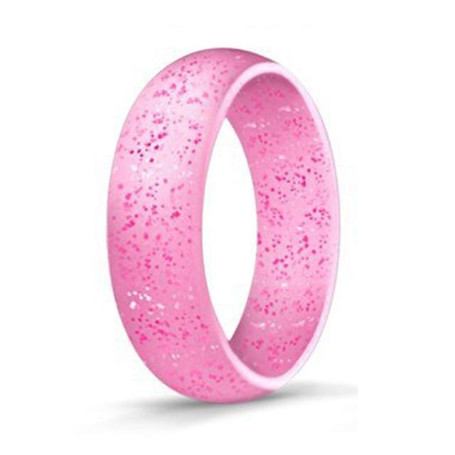 Pink  Silicone Ring for  Women