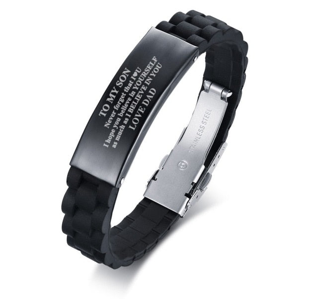 Personalised Engraved  Mens Bracelet