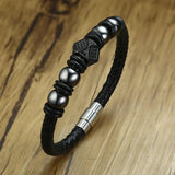 Stainless Steel Magnetic Clasps Bead Bracelets for Men