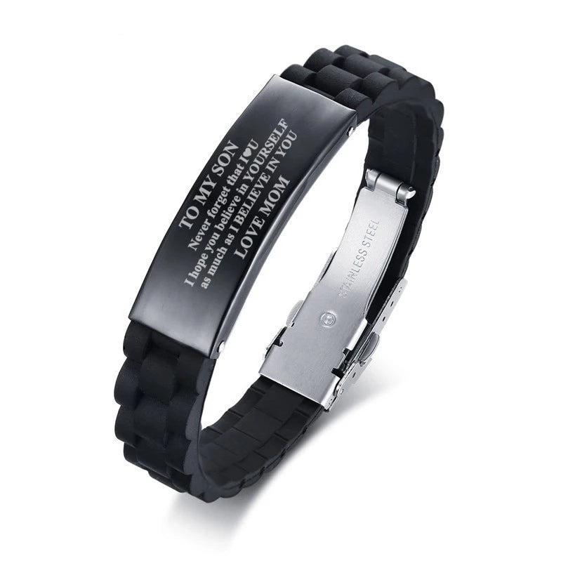 Custom Personalised Engraved  Mens Bracelet.