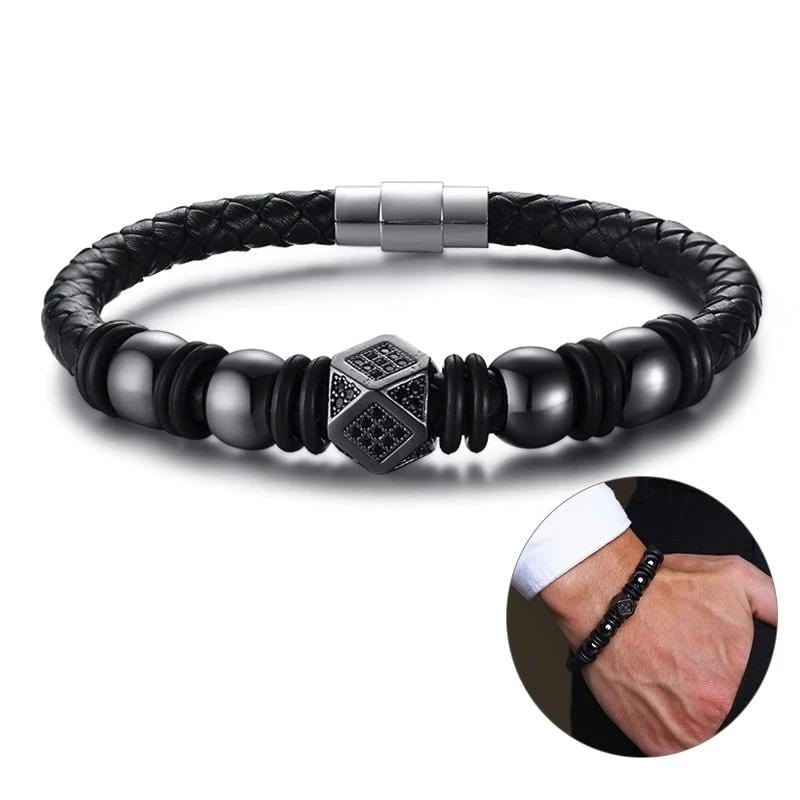 Magnetic Clasps Bead Bracelets for Men