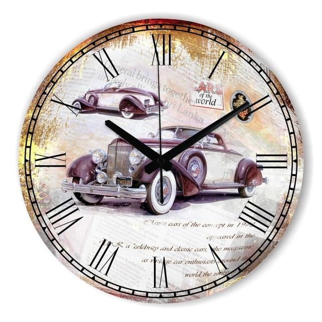 Antique Decorative Car Wall Clock For Living Room