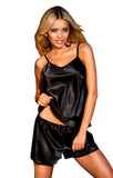 Venice Satin Sleepwear Set - Black