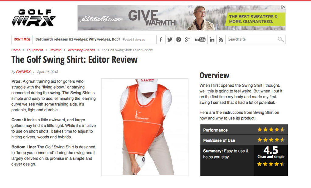 Golf Training Aids The Golf Swing Shirt reviewed Best