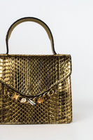 Gold Python Evening Handbag