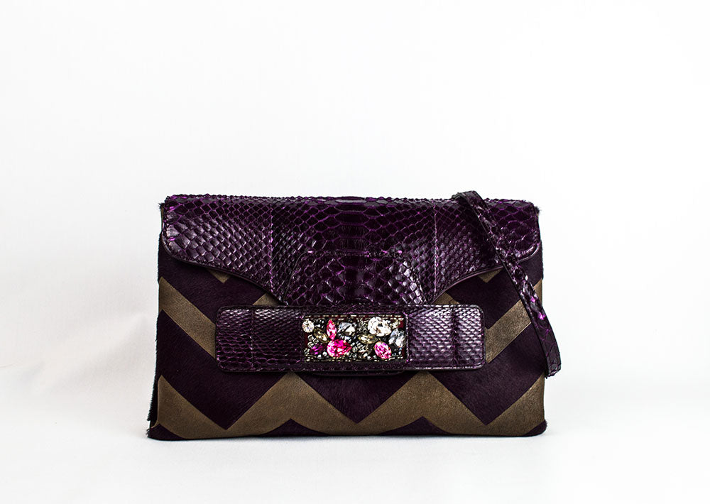 Python Jeweled Clutch