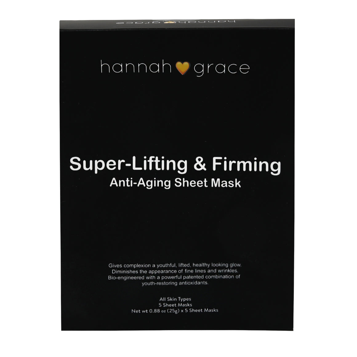 Super-Lifting and Firming Sheet Mask.  Deeply replenishing & smoothing anti-aging face mask - This will have you looking younger after first use!! For all skin types 5 pack