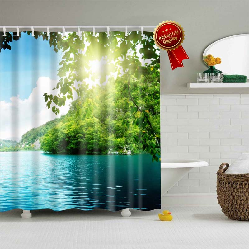DiamondStop™ - Beach Shower Curtains