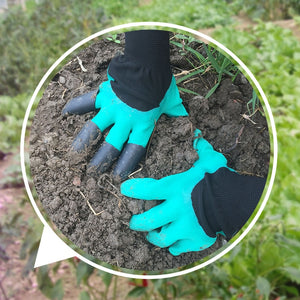 1 PAIR GARDENING GLOVES WITH CLAWS