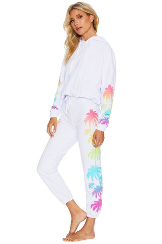 Palm Madness Sweatpant White