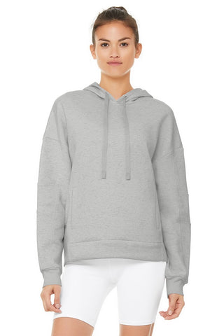 Alo Yoga Interval Hoodie - Dove Grey Heather 1 Of 5