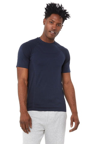 Amplify Seamless Short Sleeve Tee - Dark Navy