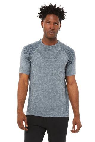 Amplify Seamless Short Sleeve Tee - Slate Heather