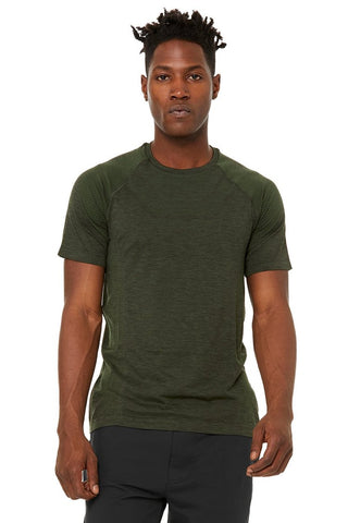Amplify Seamless Short Sleeve Tee - Hunter Heather