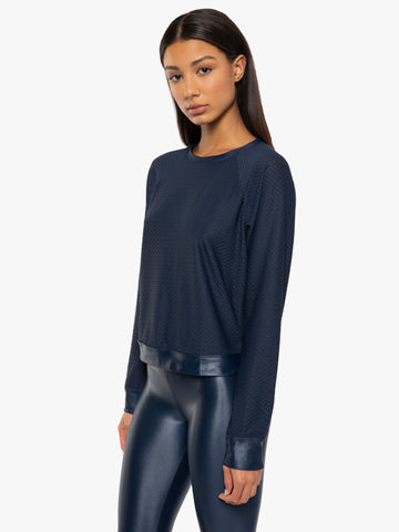 Koral Sofia Pullover Midnight Blue Image 1 Of 6
