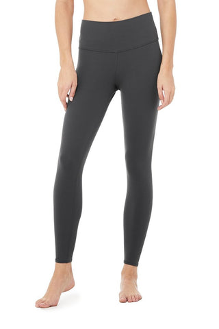 Alo Yoga 7/8 High Waisted Airbrush Legging - Anthracite 1 Of 9