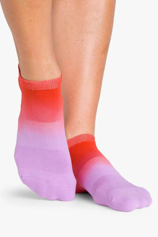 Pointe Studio Riley Sport Purple Red No Grip Socks