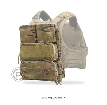 Vest Zip On Accessory With Pouch Array