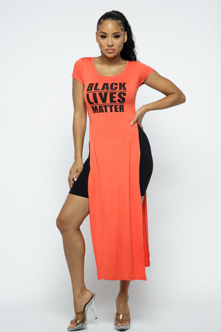 Tops: Black Live Matter Slit Dress BCT4008