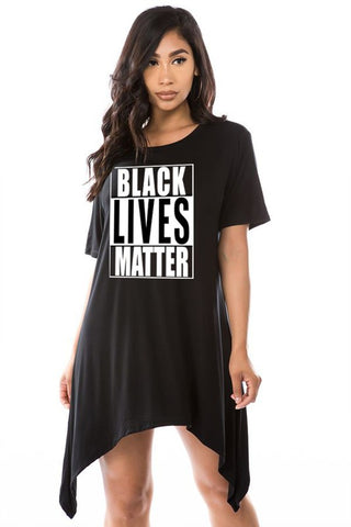 Tops: Black Live Matter Shark Bite Mini Dress BCT1030