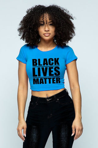 Tops: Black Live Matter Graphic Crop Top BCT8201