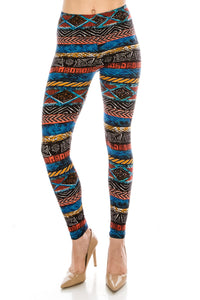 Plus Leggings: Tribal Design Leggings BCP(3XL-5XL)B23