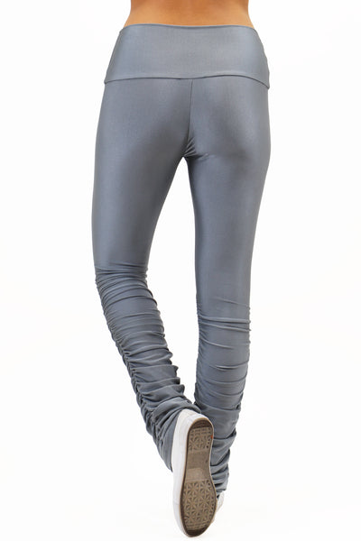 Pants: Shiny High Waist Stacked Pants BCP3006
