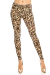 Plus Leggings: Leopard Design Leggings BCP(3XL-5XL)F01
