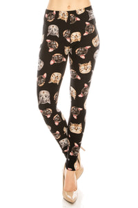 Plus Leggings: Space Cat Design Leggings BCP(3XL-5XL)G12